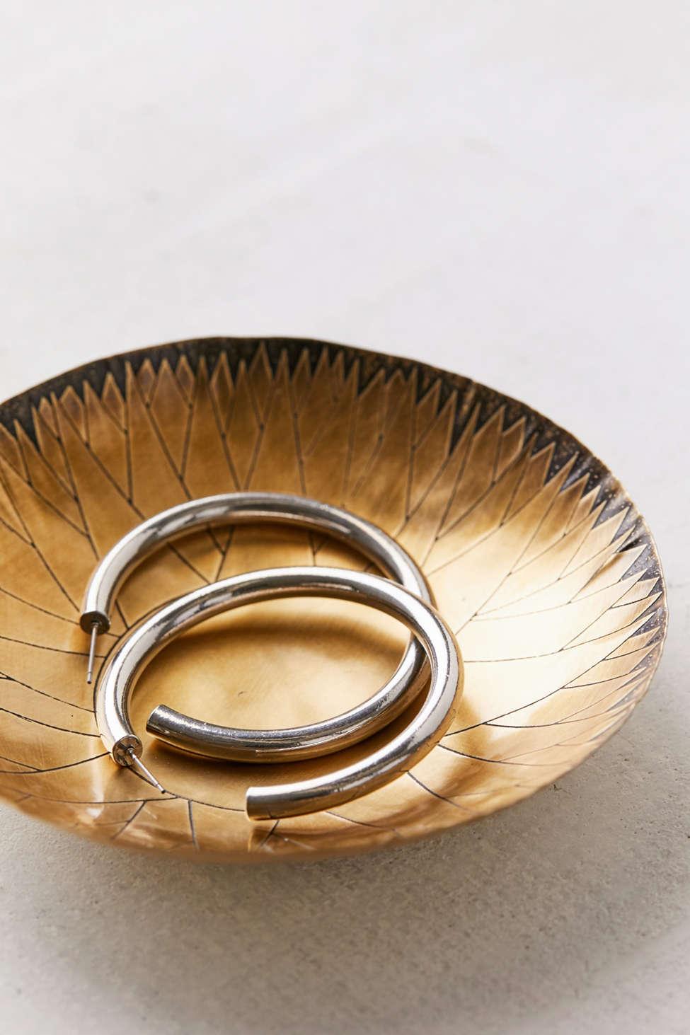 Slide View: 2: Stone Harvest Brass Sun Bowl