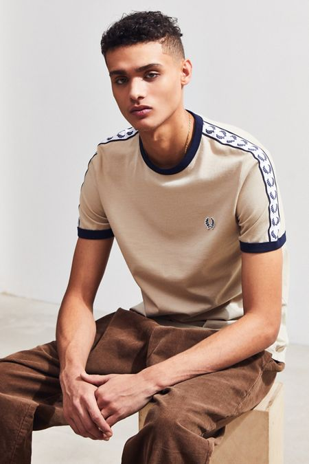 4484e9f7947 Fred Perry Taped Ringer Tee