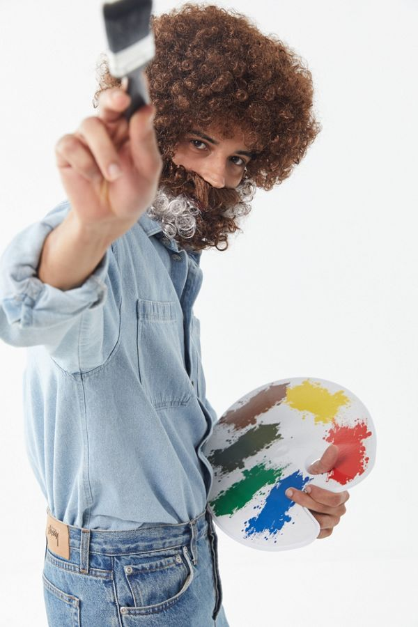 slide view 1 bob ross halloween costume set