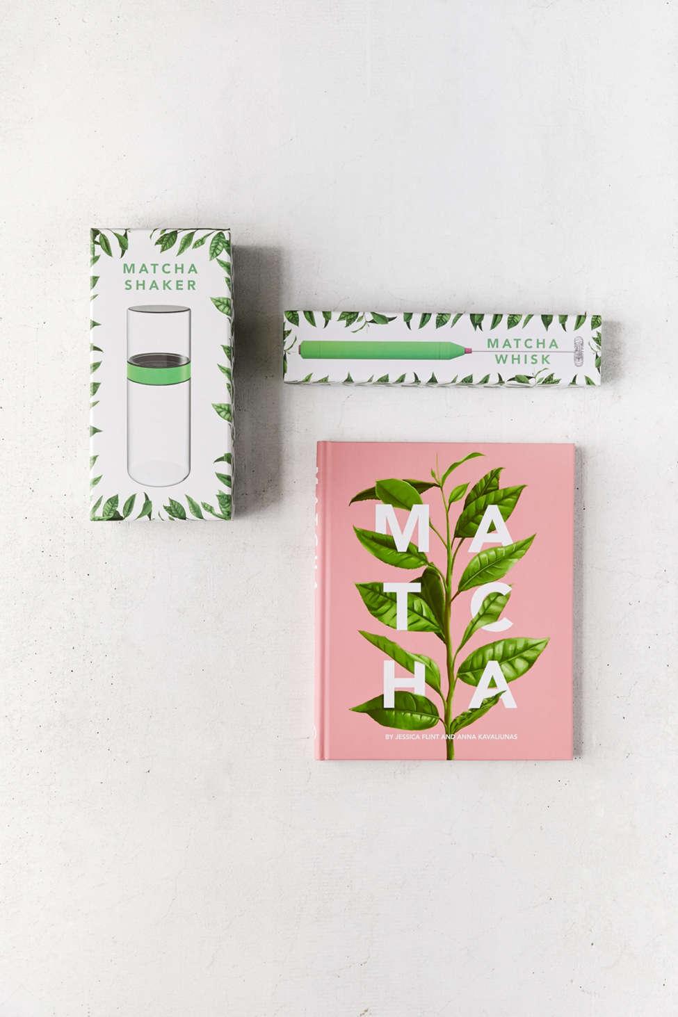 Slide View: 2: Matcha Book, Whisk + Shaker Gift Set