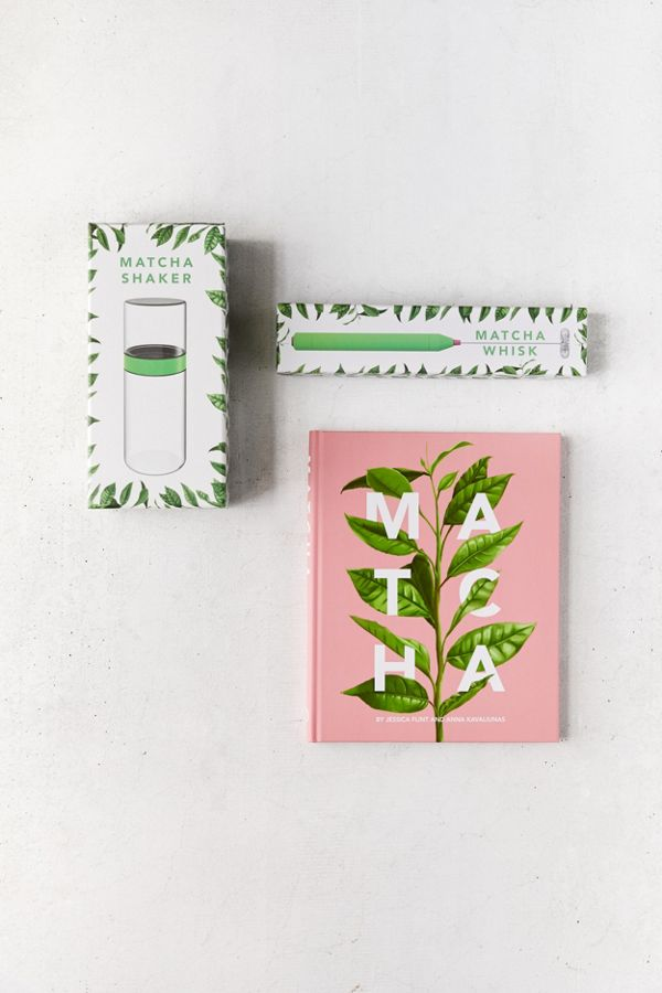Slide View: 2: Matcha Book, Whisk + Shaker Gift Set