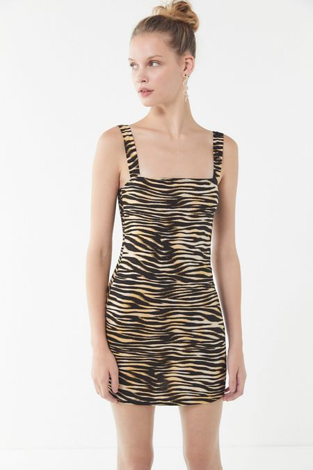 74981bfbf12 Motel Farlie Zebra Print Mini Dress