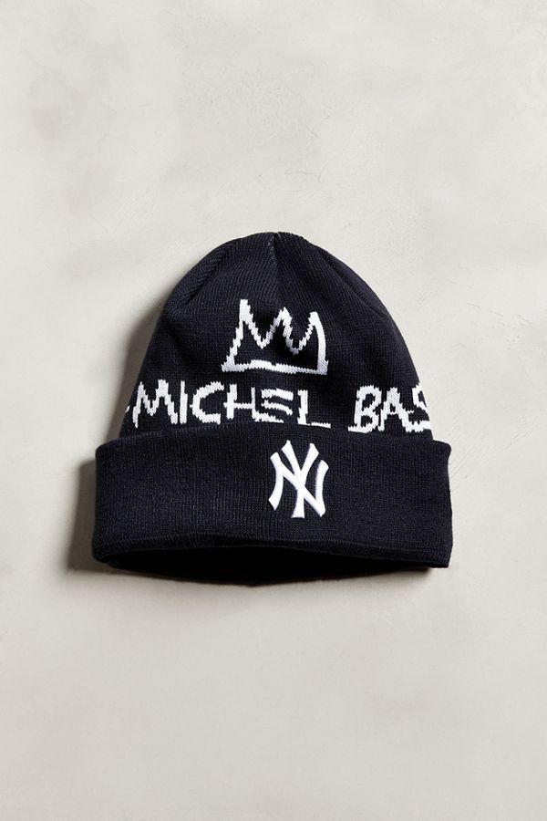New Era X Basquiat New York Yankees Signature Knit Beanie  f365d3586fa
