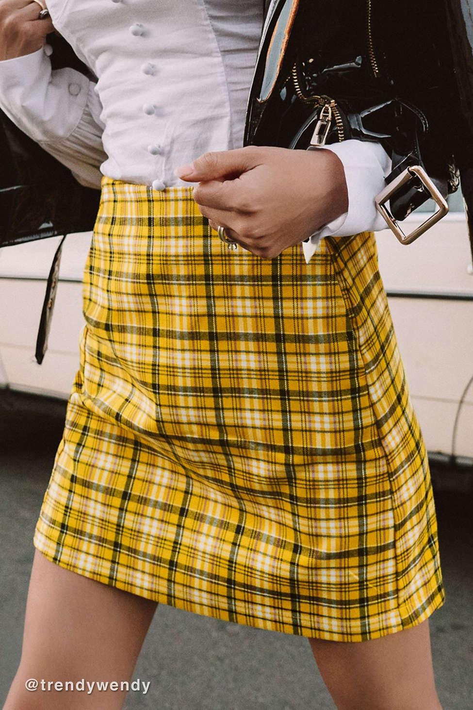 UO Colin Plaid Pocket Mini Skirt