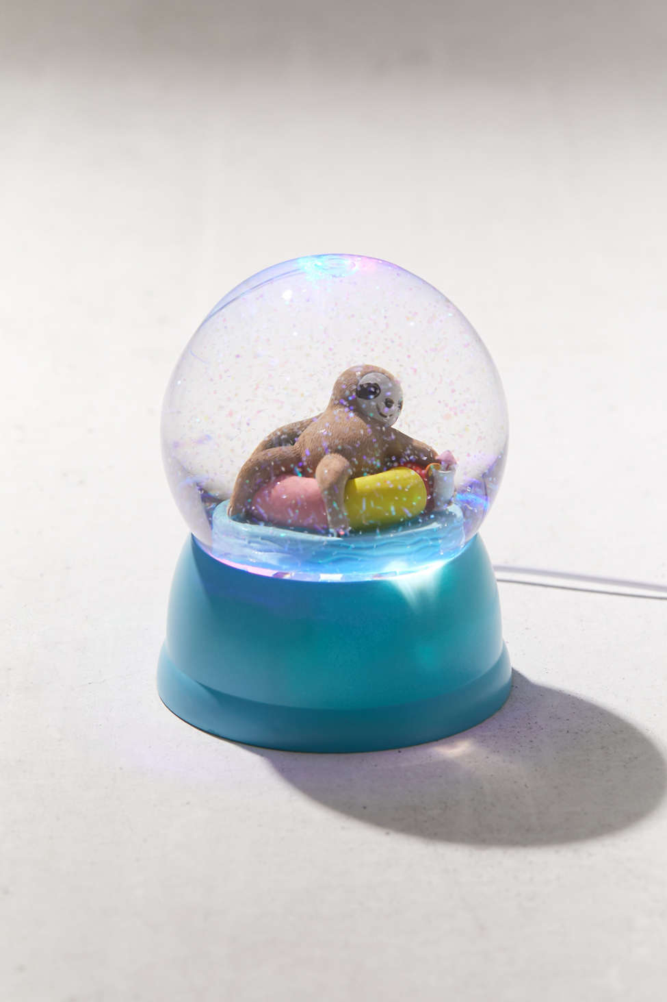 Lazy Sloth Usb Snow Globe Urban Outfitters