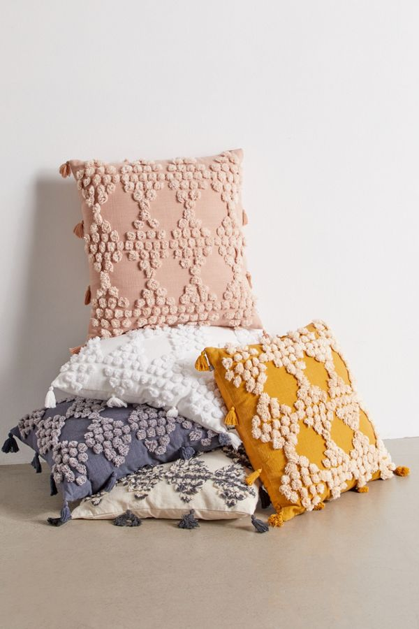 Slide View: 1: Eden Tufted Throw Pillow