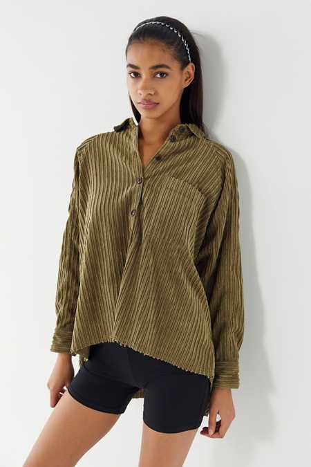Green Shirts Blouses For Women Urban Outfitters