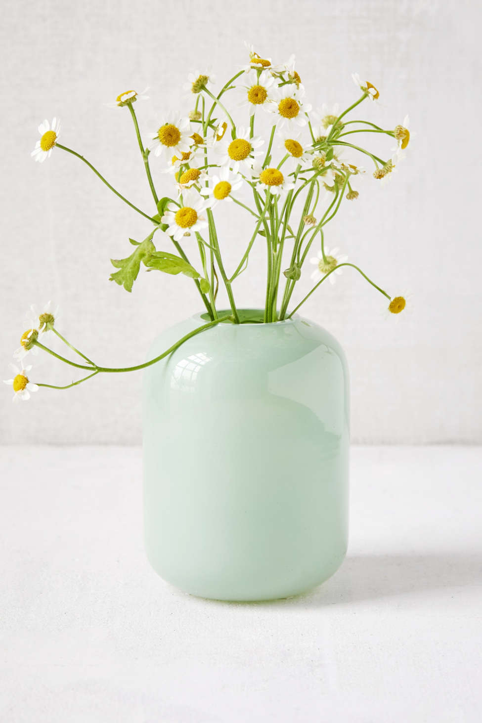 Slide View: 1: Oval Milk Glass Bud Vase