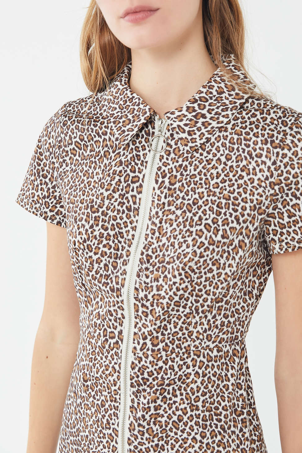 Uo Leopard Print O Ring Mini Dress by Urban Outfitters