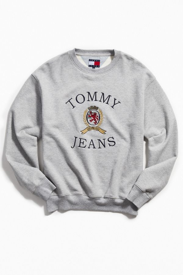 Your Urban Outfitters Gallery. Tommy Jeans Crest Logo Crew-Neck Sweatshirt 96305656f2