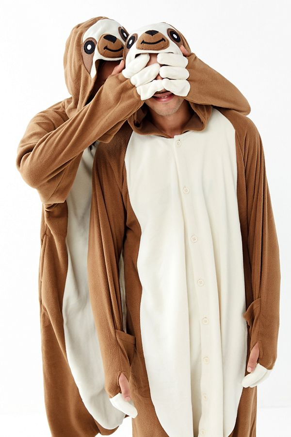 slide view 1 kigurumi sloth halloween costume