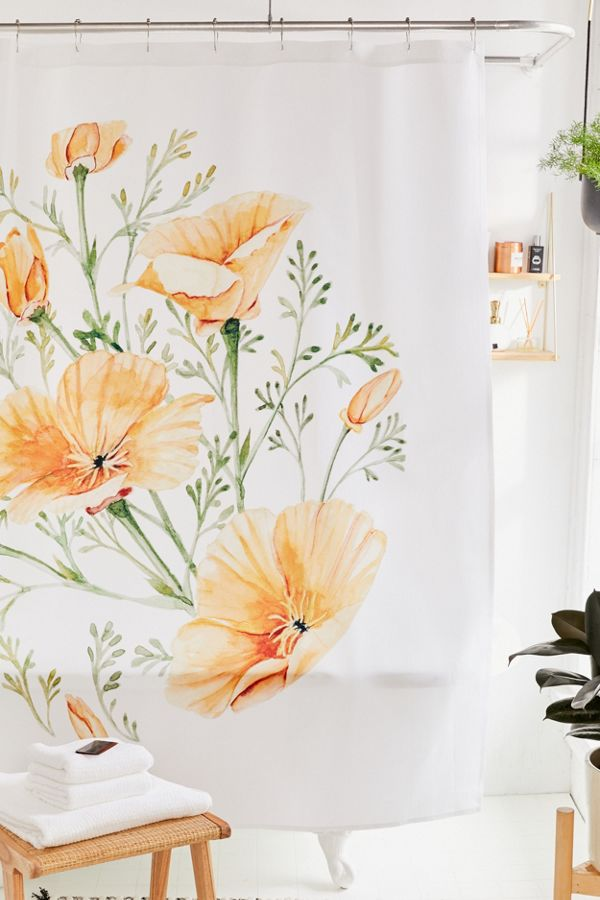 Slide View: 1: Shealeen Louise For Deny California Poppies Shower Curtain