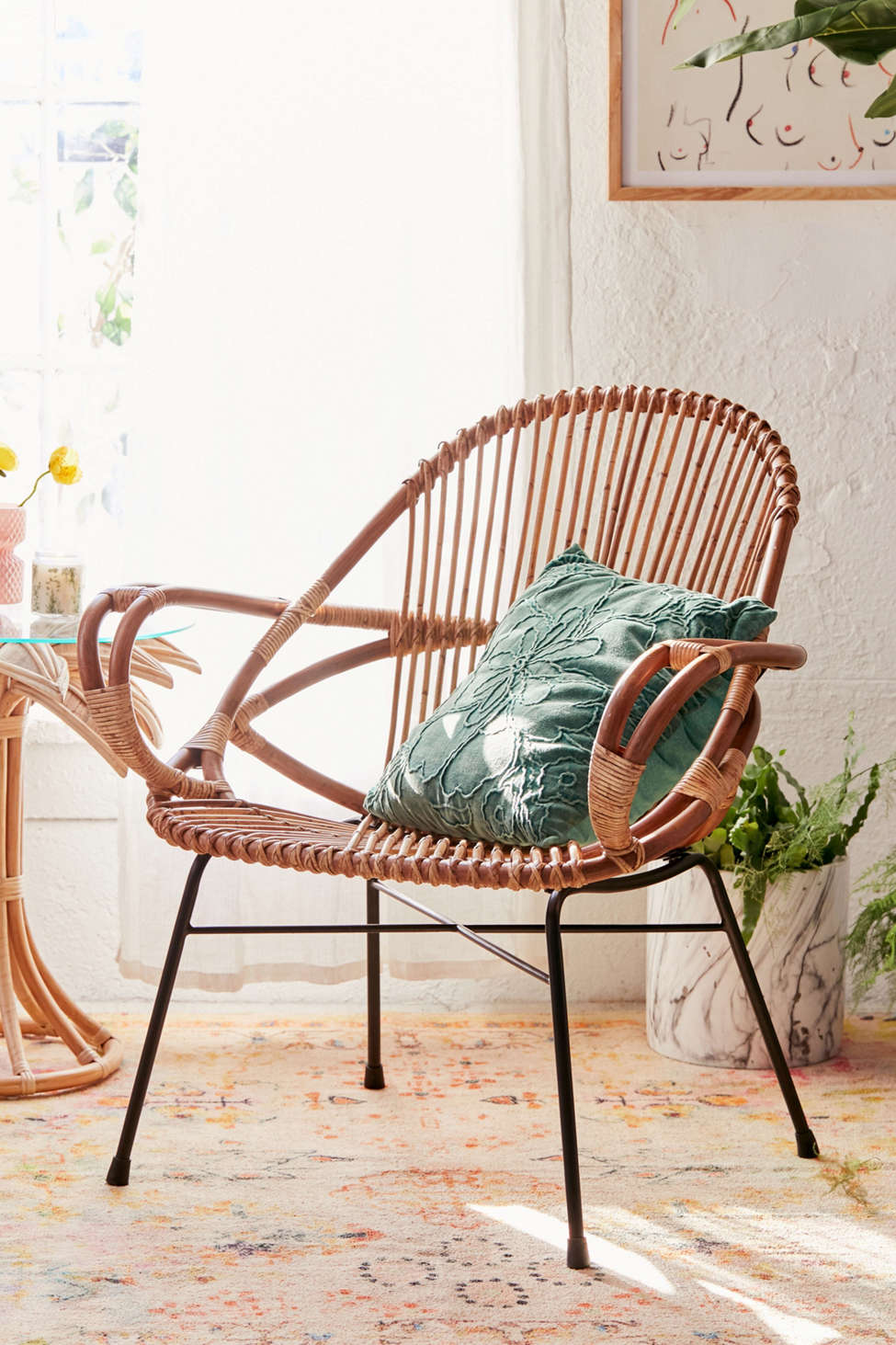 Slide View: 1: Brigitte Rattan Chair