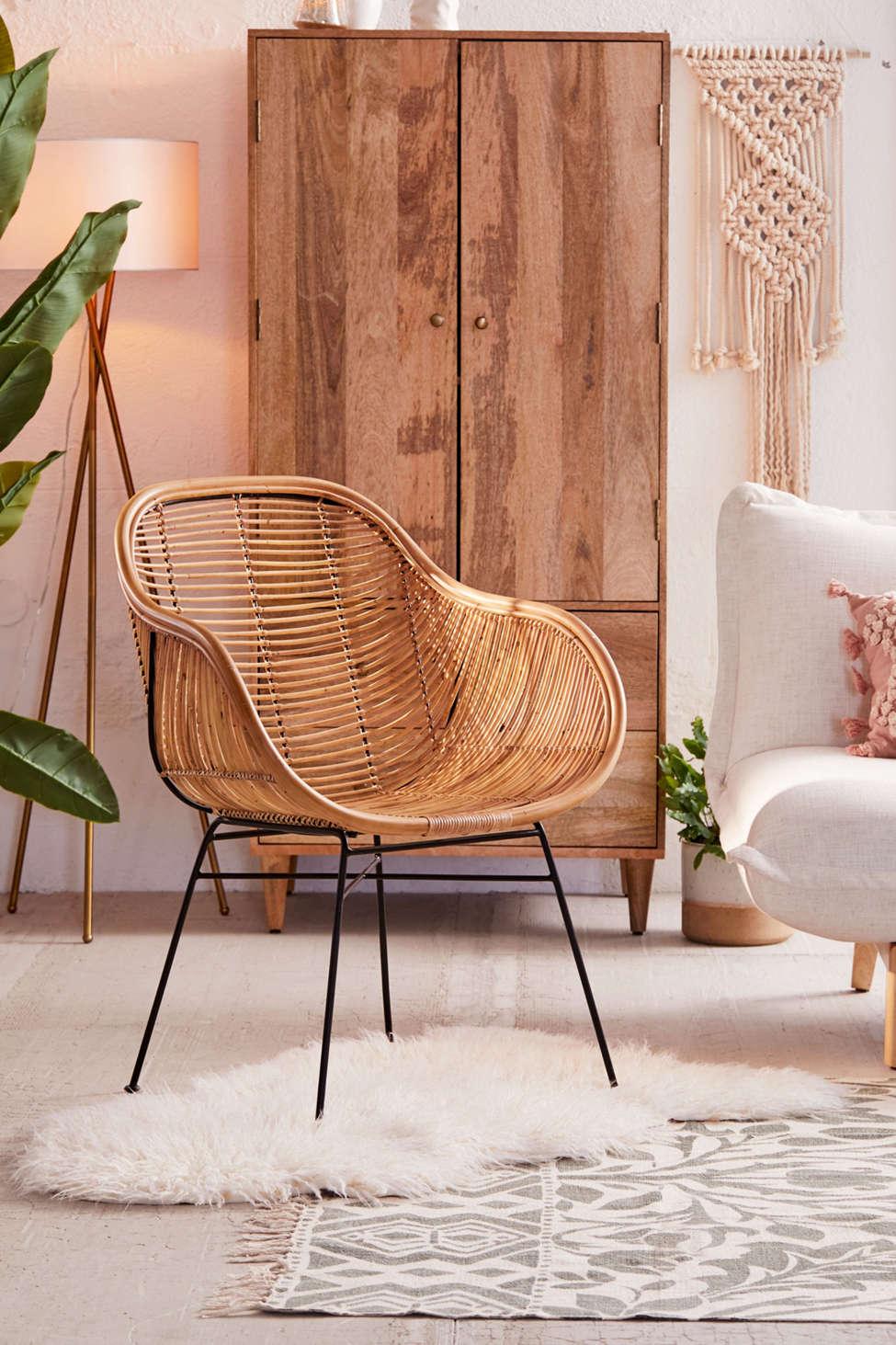 Slide View: 1: Lillian Rattan Chair
