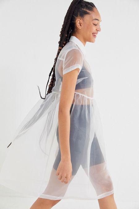 a6276c9fef2f UO Cloud Nine Organza Midi Shirt Dress