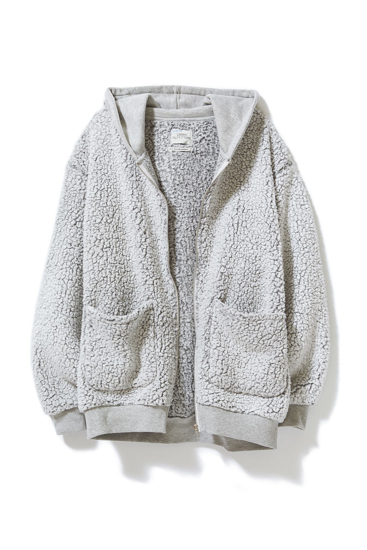 6e4c48e6c4a Slide View  5  UO Brea Fleece Hooded Zip-Up Jacket