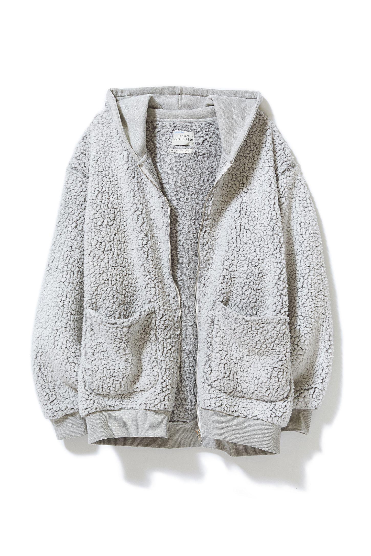 e9405780ae8 Slide View  5  UO Brea Fleece Hooded Zip-Up Jacket