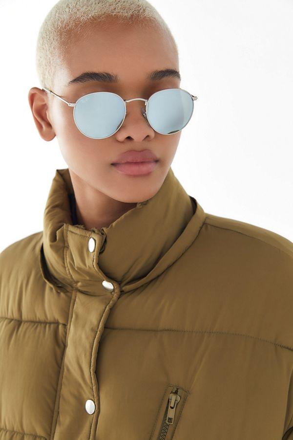 Slide View: 1: Ray-Ban Round Flash Sunglasses