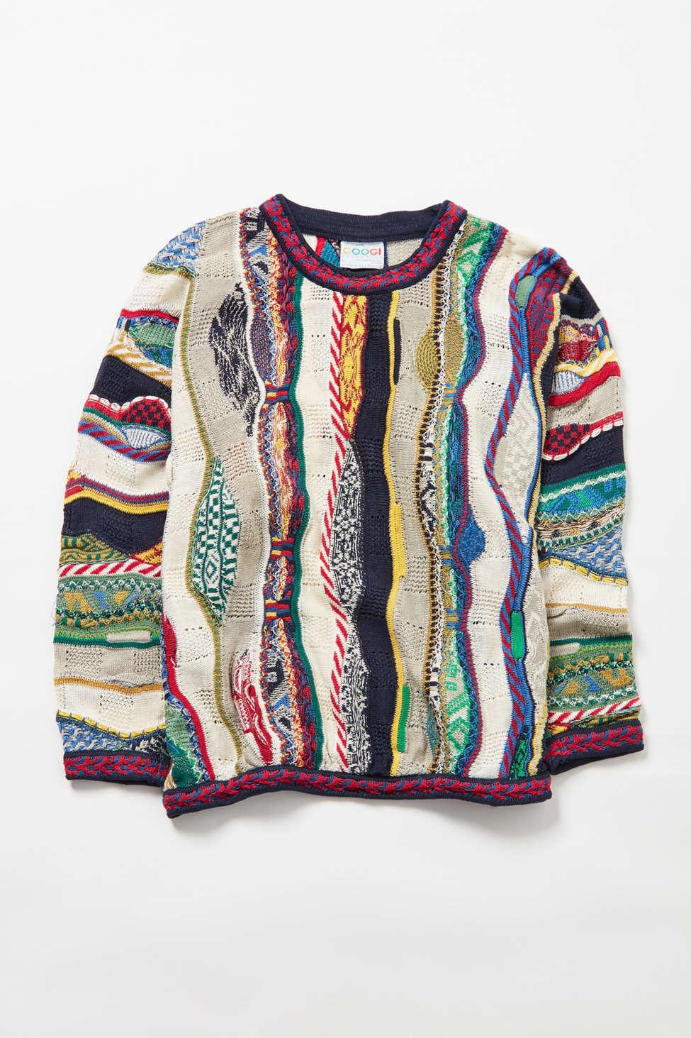 Vintage Coogi Patterned Stripe Sweater
