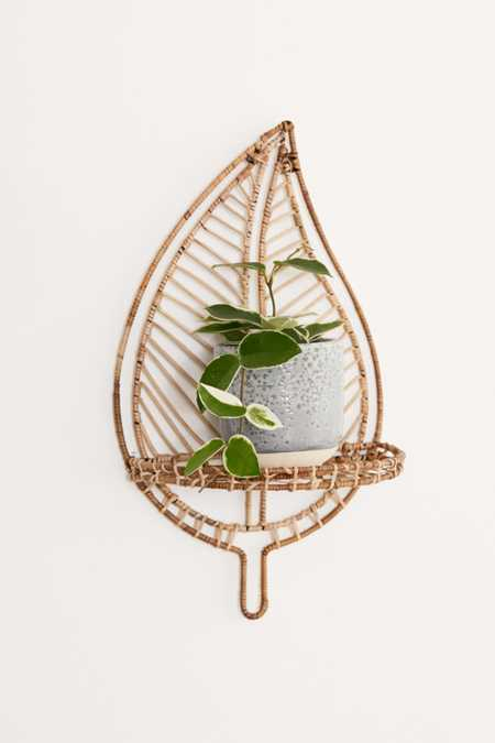 Rattan Leaf Wall Shelf