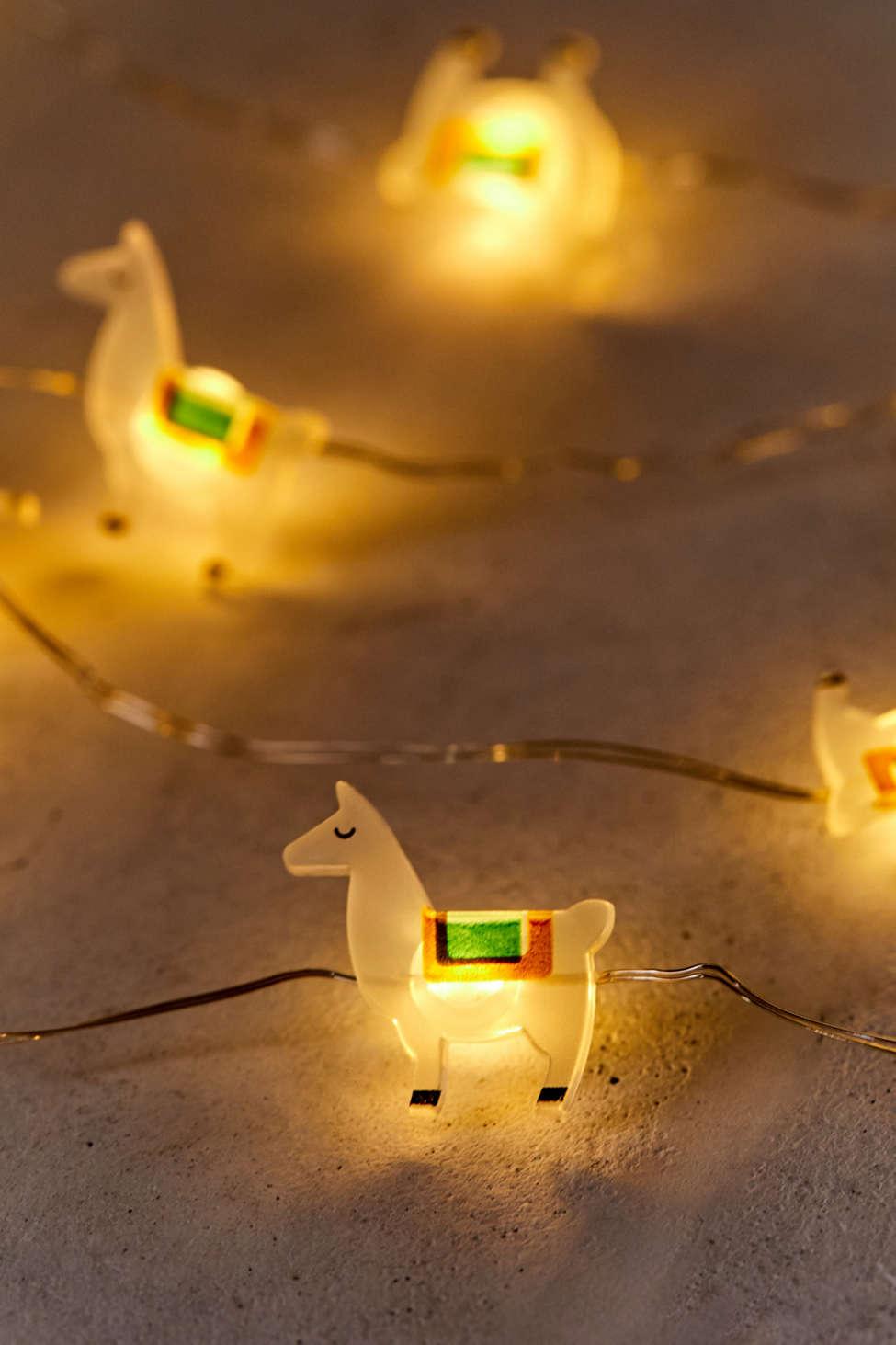 Slide View: 1: Llama String Lights