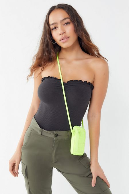 1842470360 Out From Under MJ Ribbed Lettuce-Edge Bodysuit