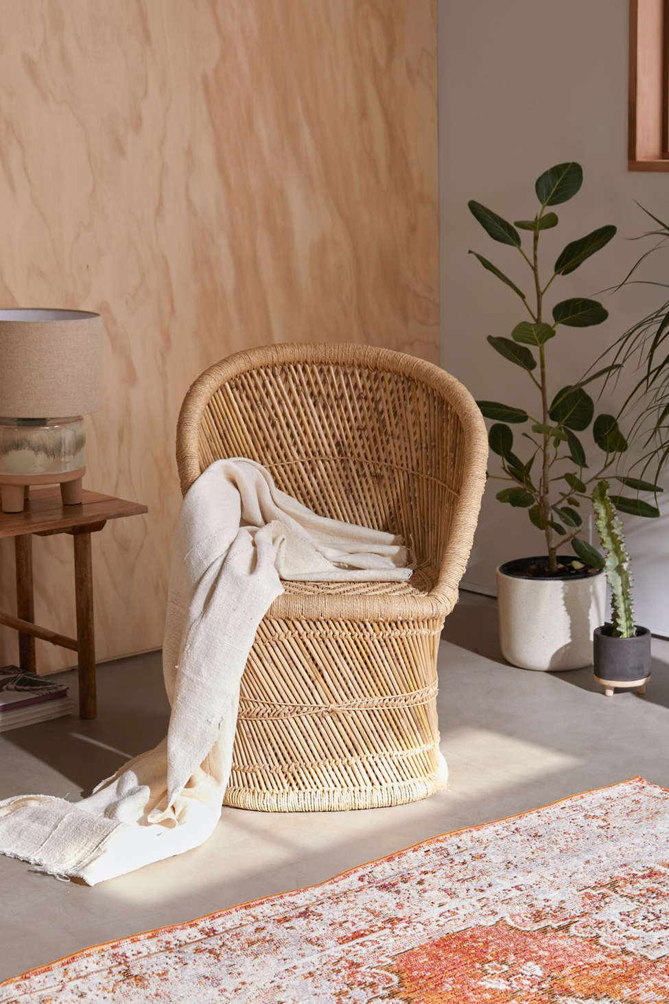 Slide View: 1: Willow Wicker Chair