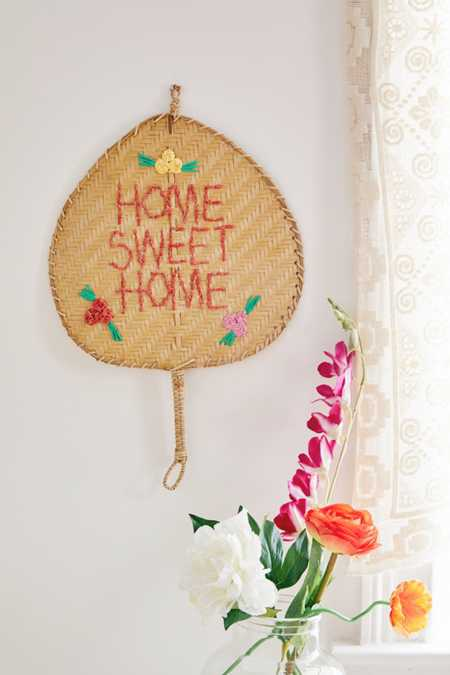 Woven Sentiment Fan