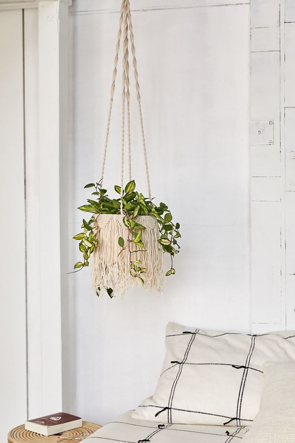 Natalie Macrame Hanging Planter Urban Outfitters Canada