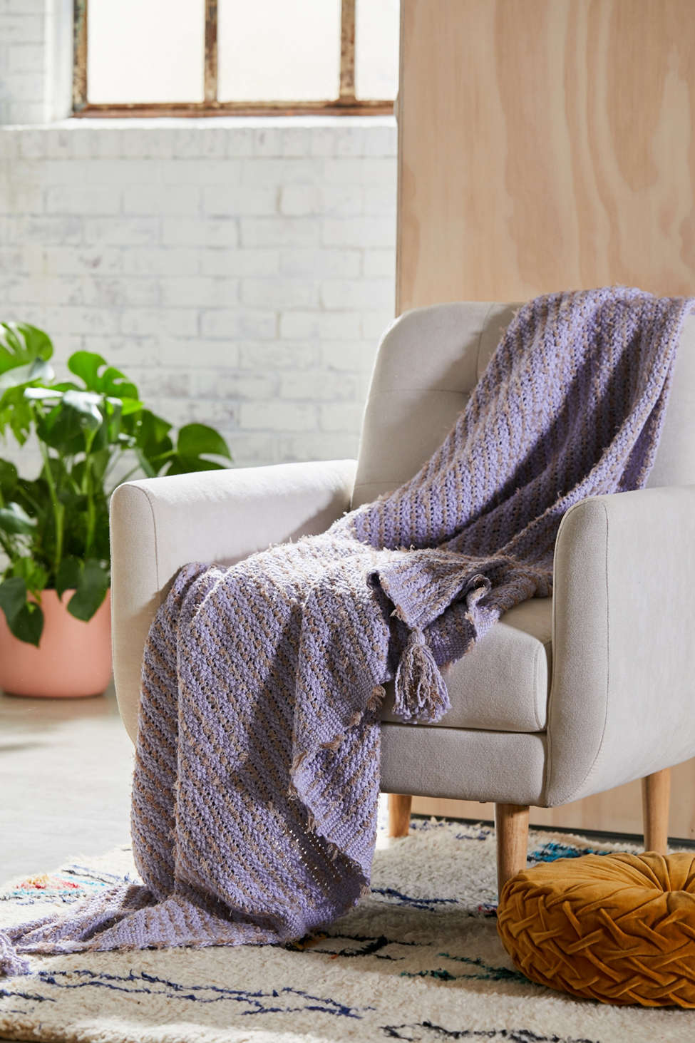 Slide View: 2: Jules Tassel Throw Blanket