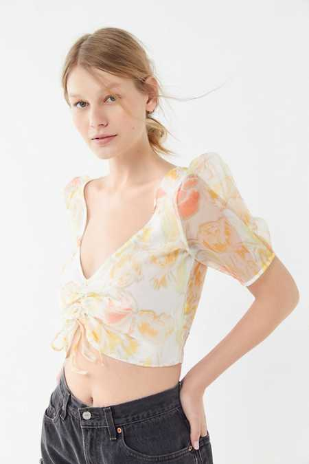 Tie Front Women S Tops Urban Outfitters