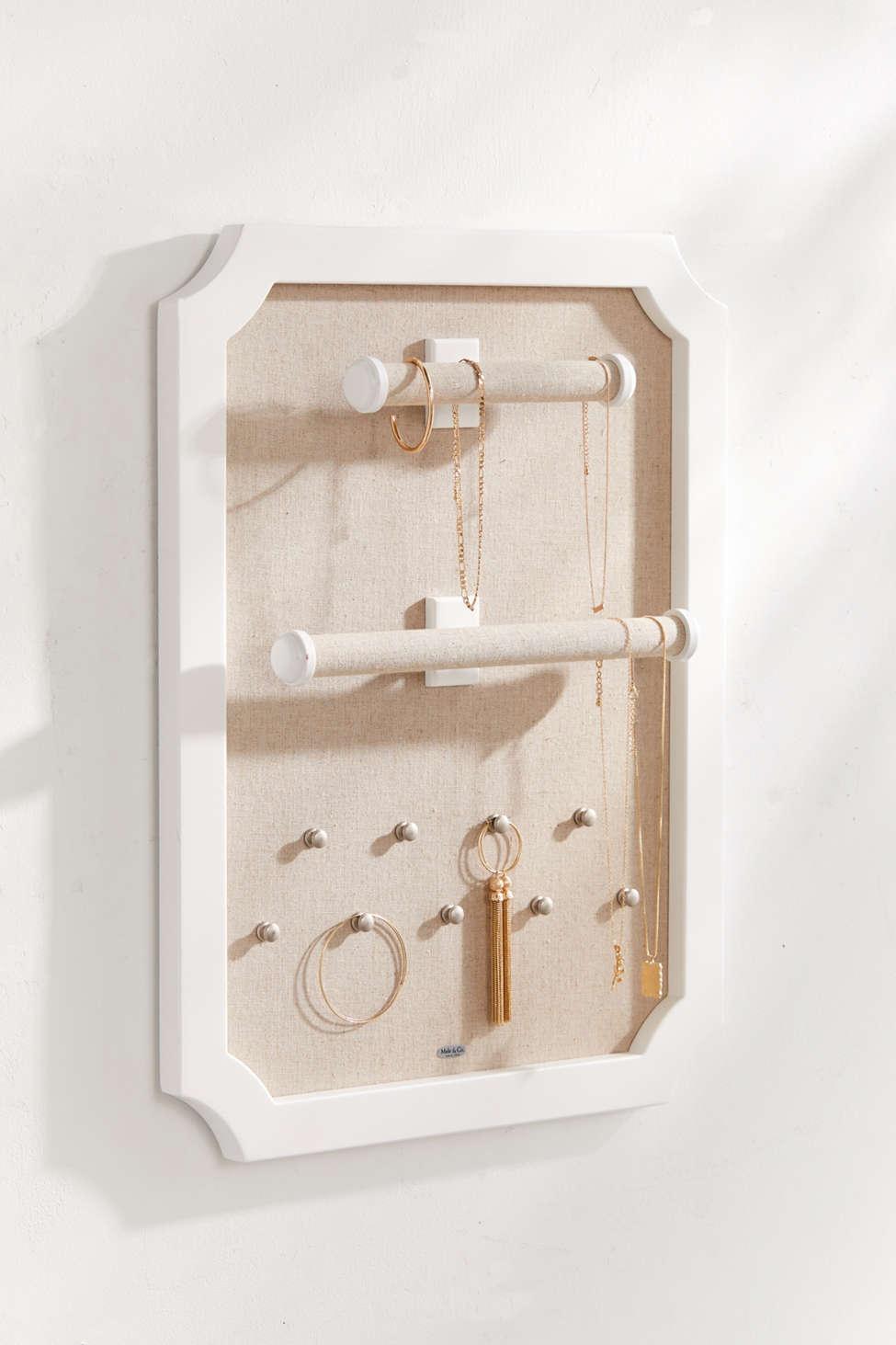 Slide View: 1: Mele & Co. Kyla Hanging Jewelry Storage