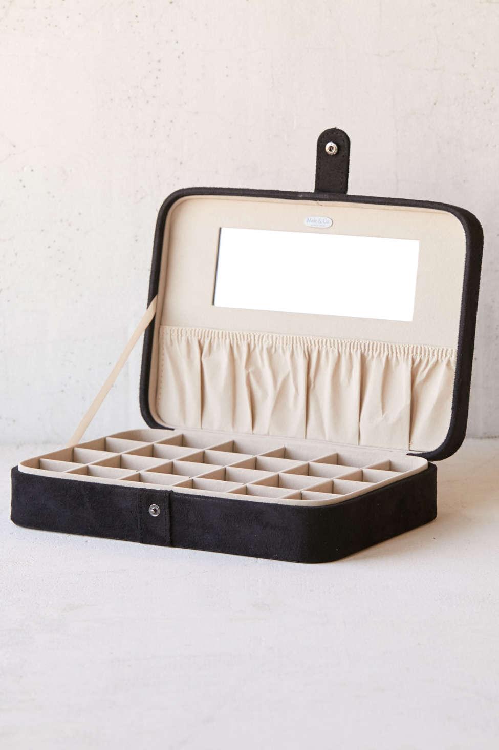 Slide View: 1: Mele & Co. Maria Large Flocked Jewelry Box