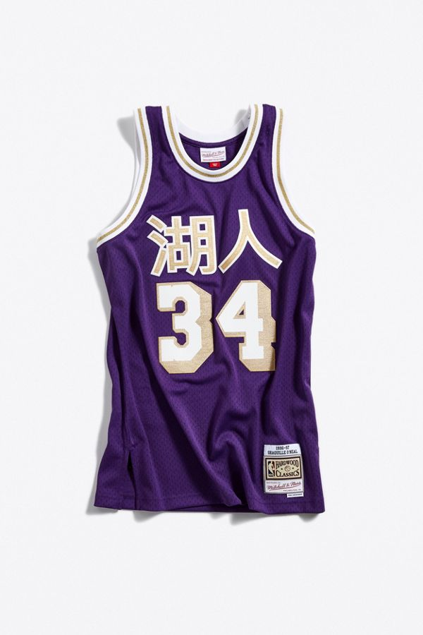 Mitchell   Ness Chinese New Year Los Angeles Lakers Shaquille O Neal ... 93182e549