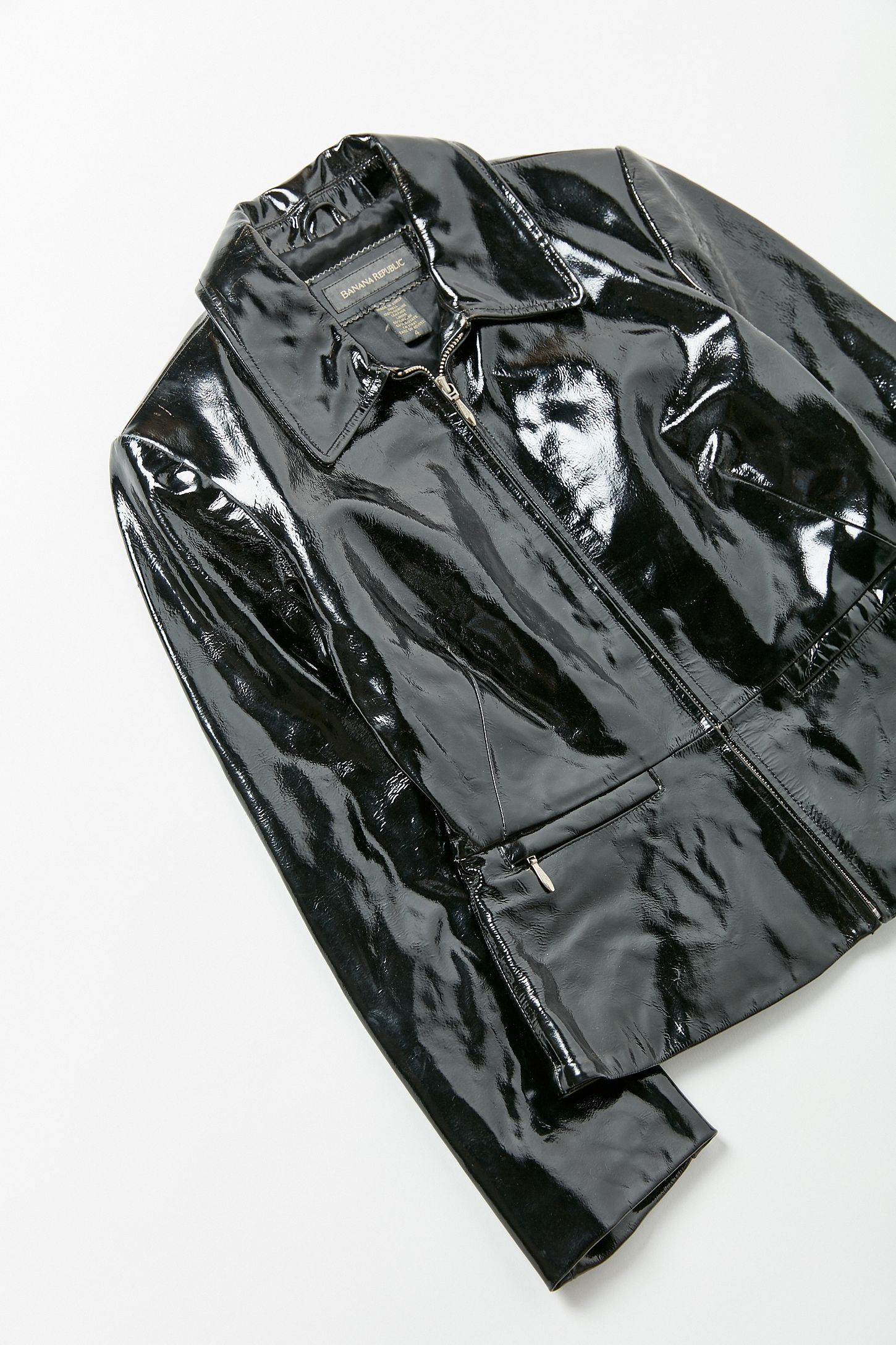 Vintage Banana Republic Patent Leather Jacket Urban Outfitters