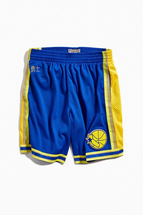 Slide View  1  Mitchell   Ness Chinese New Year Golden State Warriors  Basketball Short 4605fcf2e