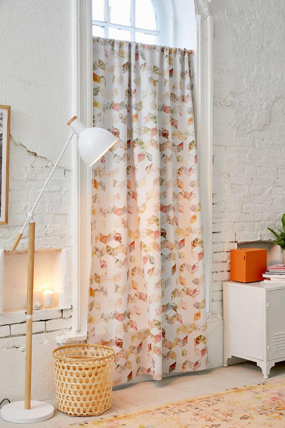 Slide View: 1: Florent Bodart For Deny Geo Flowers Room Darkening Window Panel