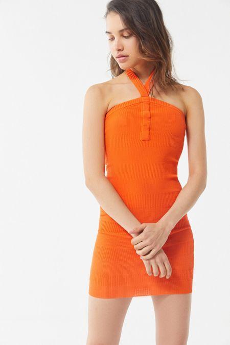 92cc078152fd UO Lola Y-Neck Sweater Dress