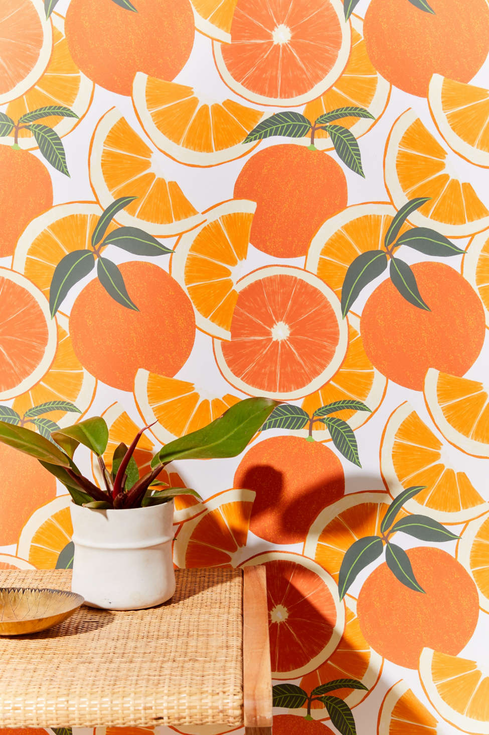 Papier Peint Amovible Orange Harvest Urban Outfitters Canada
