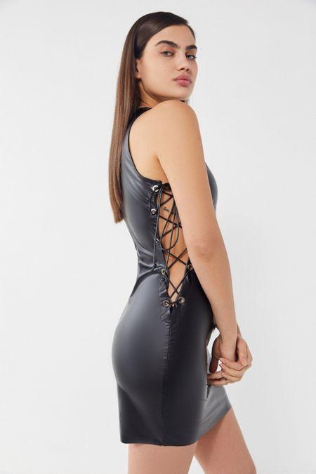 929def3c2fc Lioness San Marino Faux Leather Lace-Up Mini Dress · Quick Shop