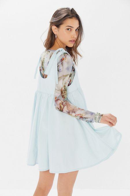 BDG Ayla Denim Tie-Shoulder Skirtall b65d94472