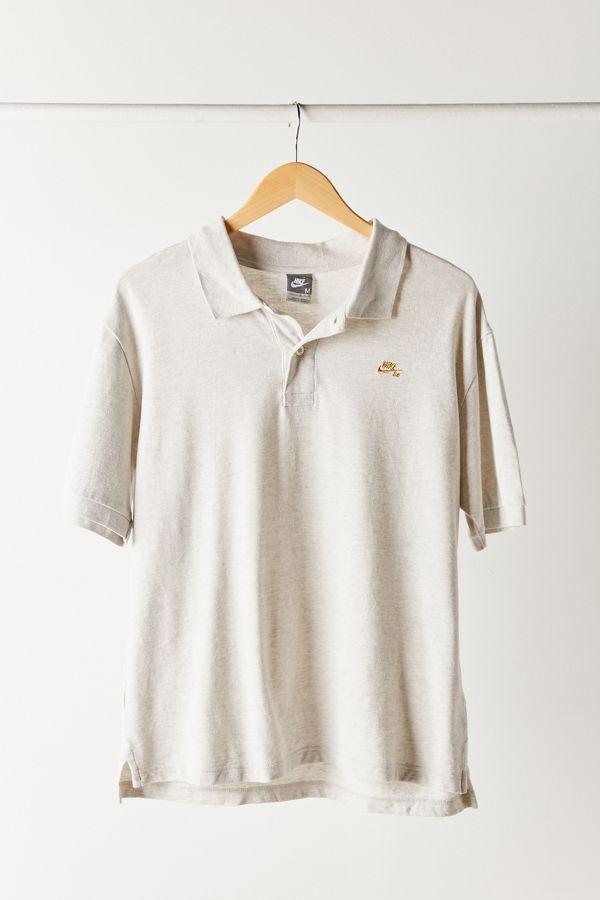 Slide View  1  Vintage Nike Grey Polo Shirt b60f9a0fb1d7