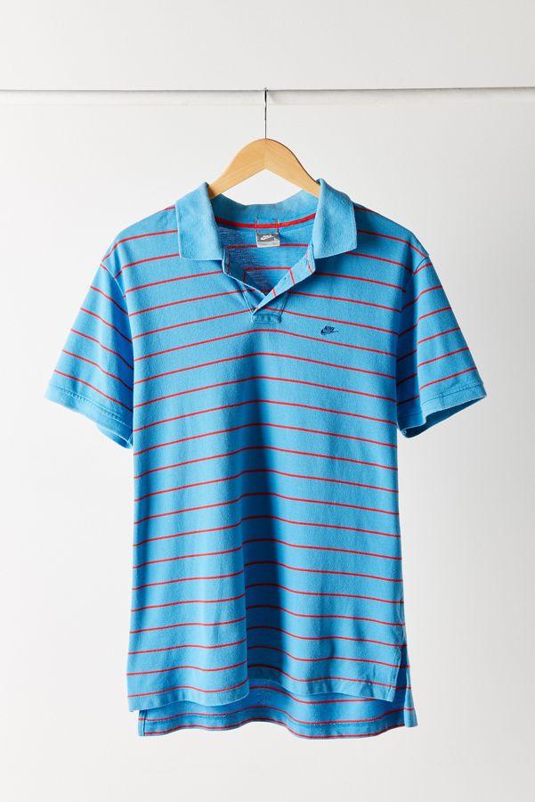 Vintage Nike Blue Stripe Polo Shirt  395c2d2cef0c