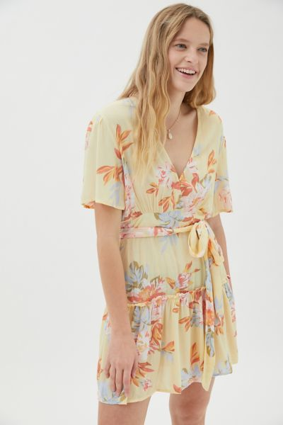Billabong Dresses ONE AND ONLY FLORAL RUFFLE MINI DRESS