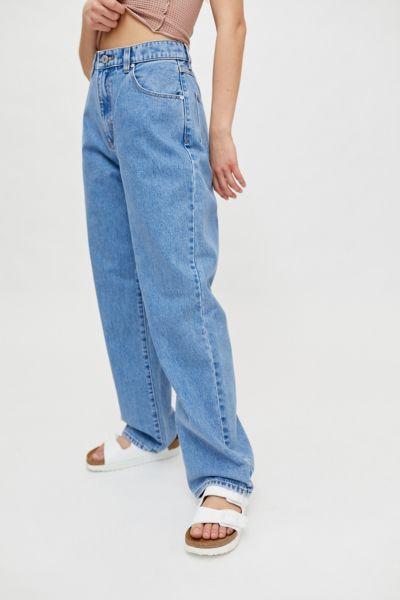 Abrand A Slouch Straight Leg Jean - Georgia In Tinted Denim