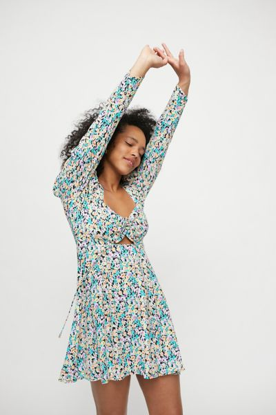 Afrm Clothing ZION PUFF SLEEVE MINI DRESS