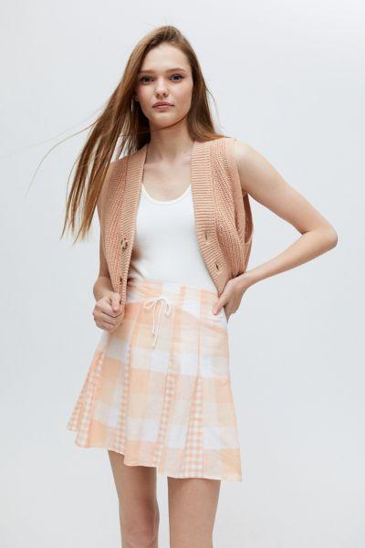 For Love & Lemons Eugenie Mini Skirt In Orange Multi