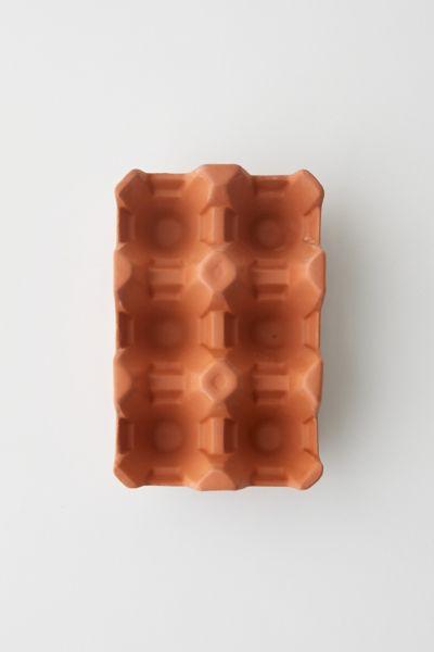 Kikkerland Design Terracotta Egg Tray In Rust